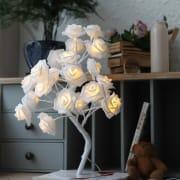 Nattlampe Hvit Rose