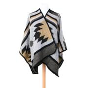 Poncho Stripe Beige