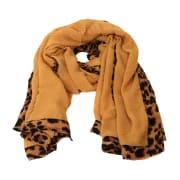 Skjerf riflet gult leopard