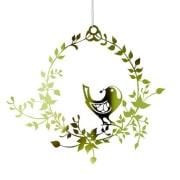 Jette Frøich Fugl i blomsterkrans gull medium - Jette Frøich