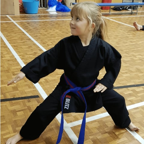 Child in a Kuk Sool pose
