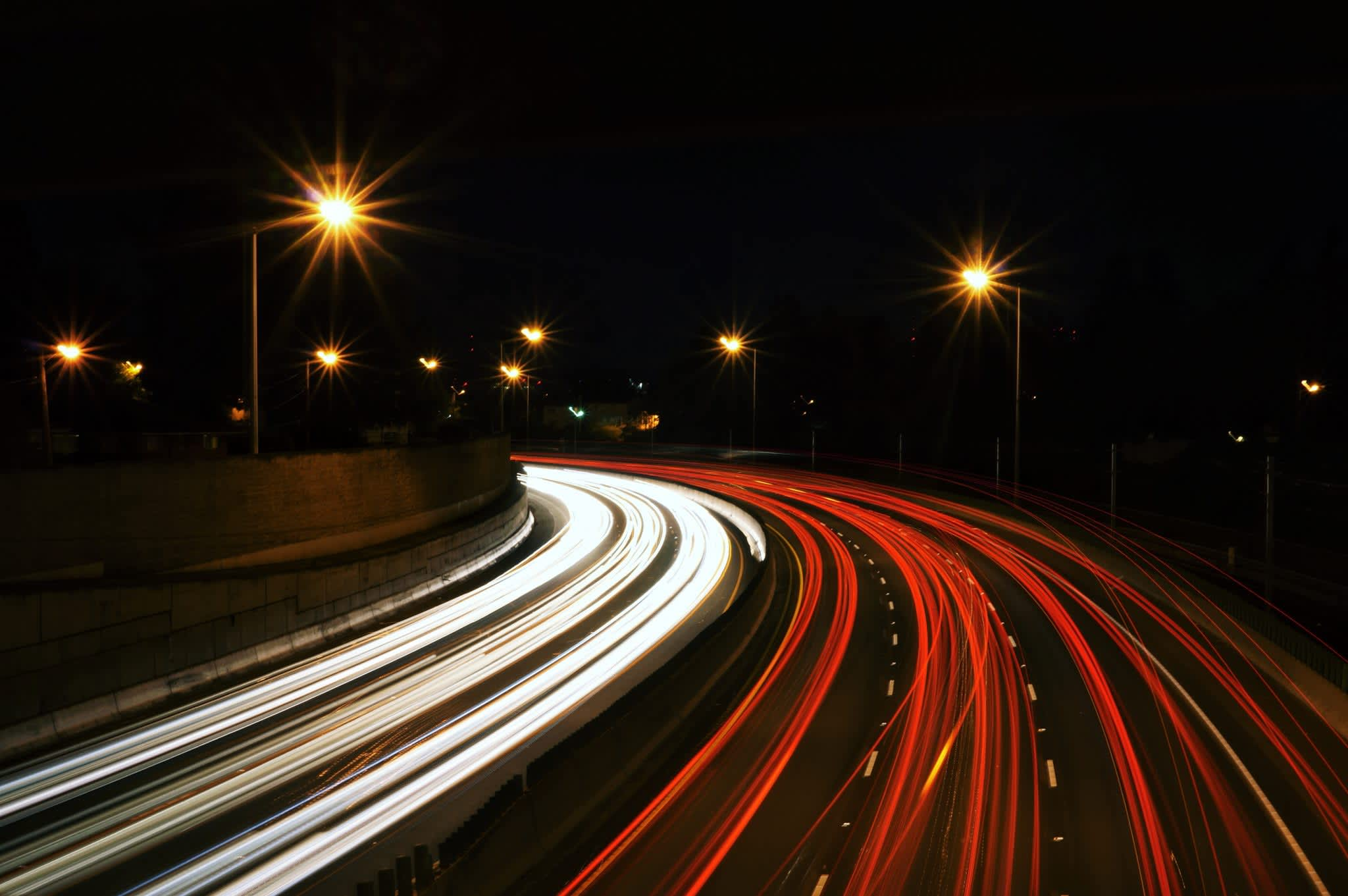 Lights on the highway