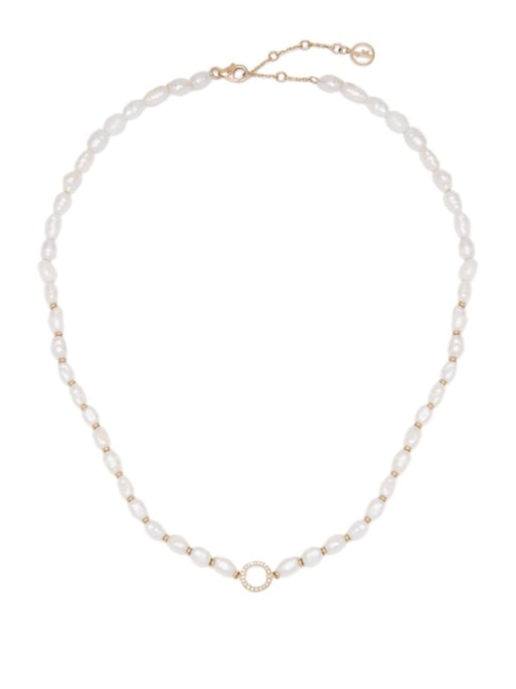806ea1cac0fab5 Perle Diamond, Pearl 18kt Gold Necklace - Womens - Gold