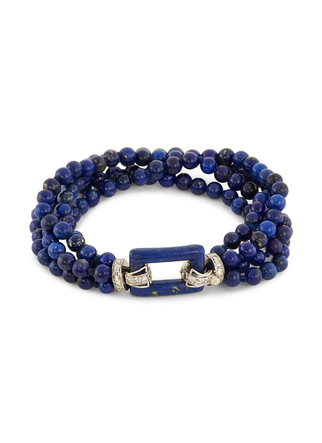 dcfdf520dbab56 Diamond lapis lazuli bead four row bracelet. LC COLLECTION JEWELLERY
