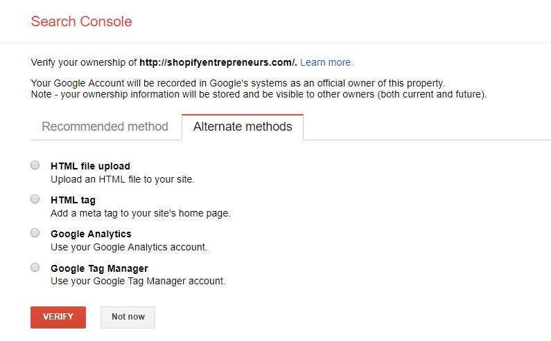 verify by HTML Tag option