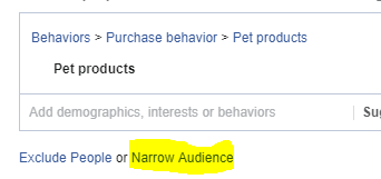 option to narrow down the audience