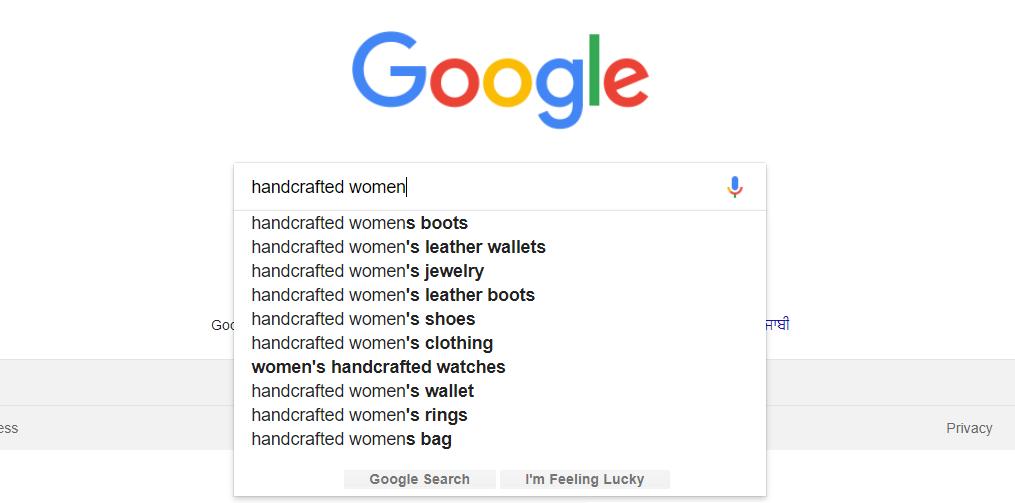 Keyword suggestion by Google