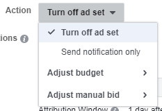 Facebook ad automation - Action