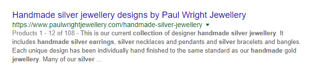 collection page meta description example