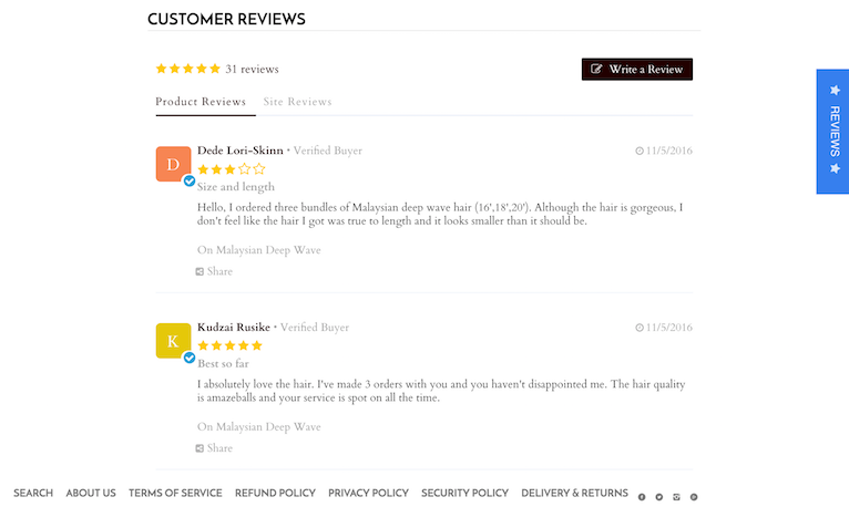 Kudobuzz review form