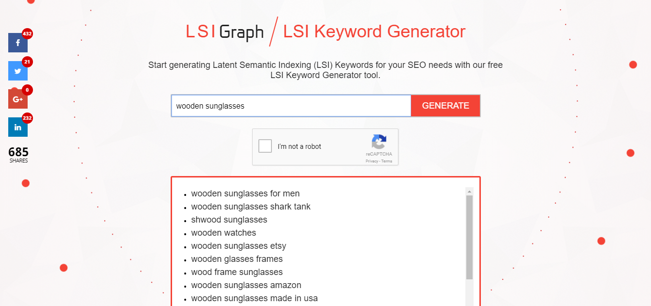 LSI graph tool for keyword research