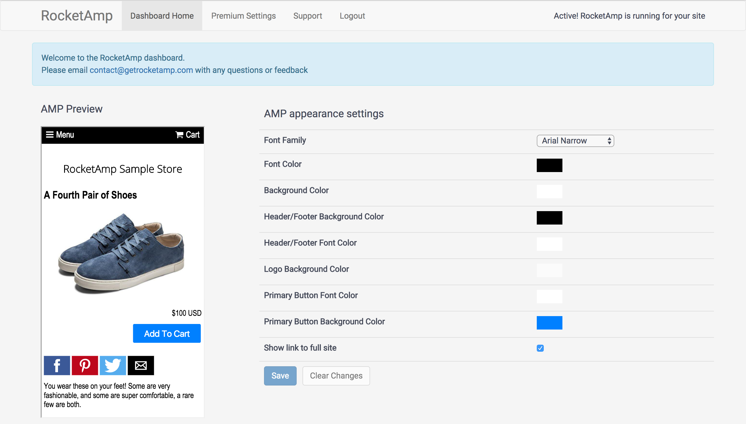 create AMP version of Shopify store