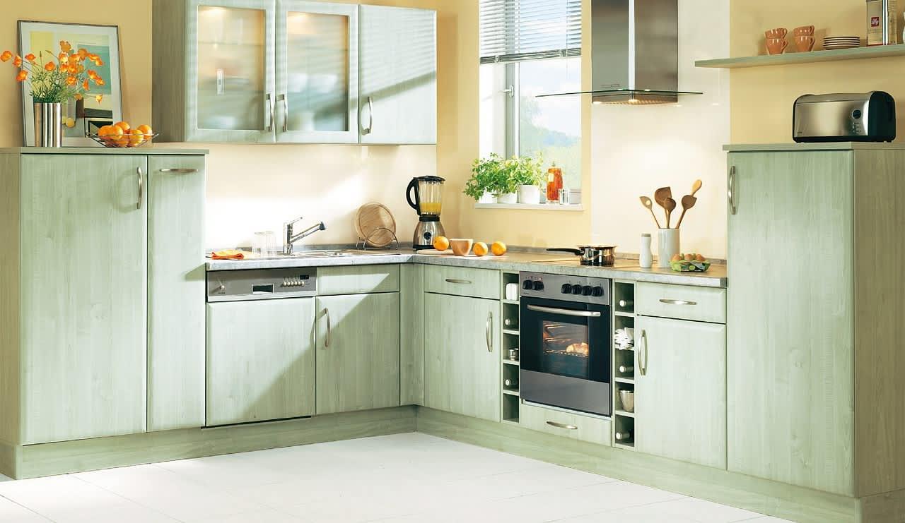 bavaria3310 einbauküche grün