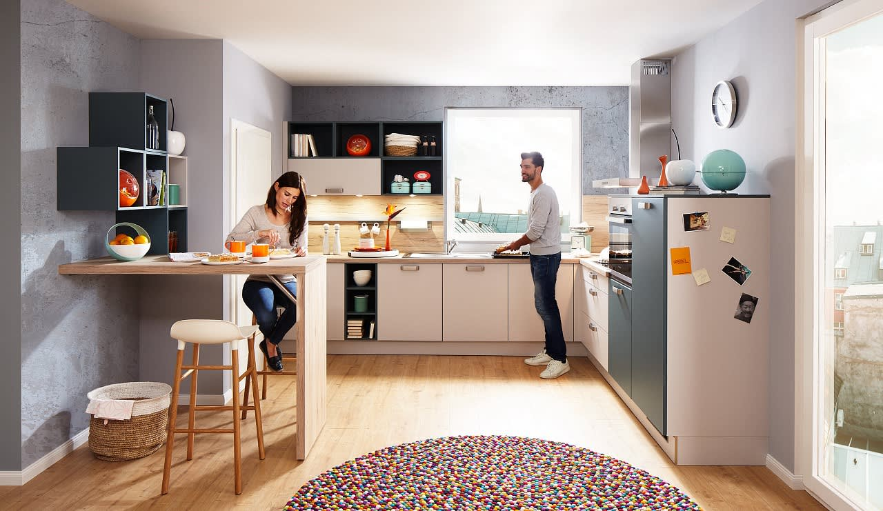 classica0100 1240 einbauküche weiß auqamarin