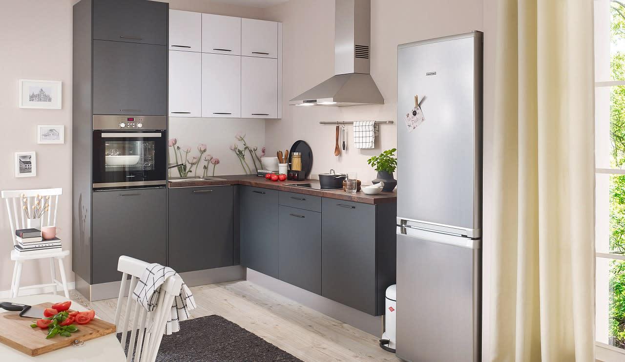 classica0100 einbauküche grau weiß