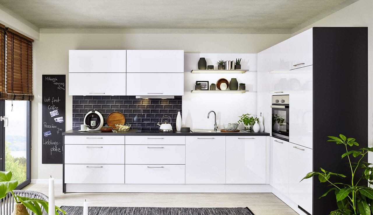 classica1230 einbauküche polarweiß