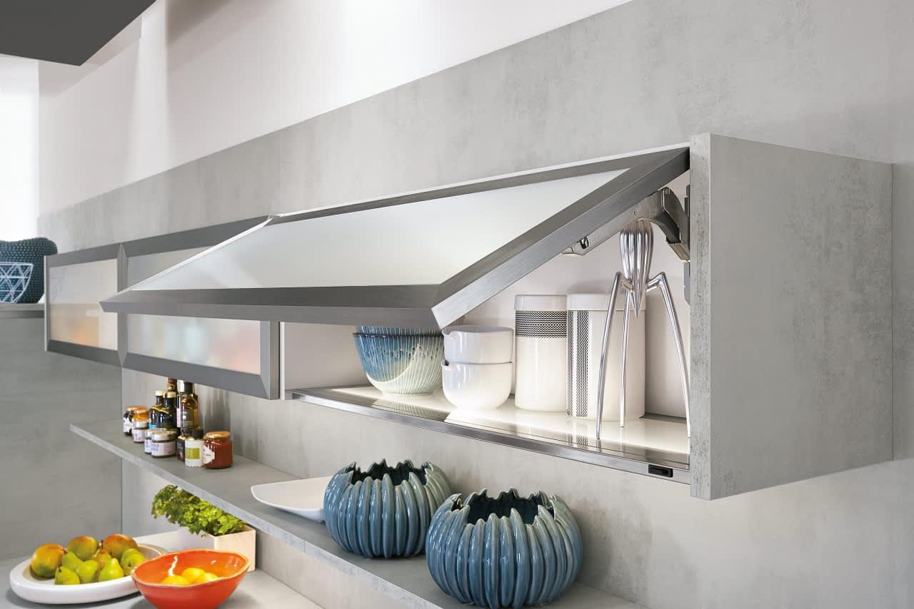 Hängeschränke Küche Grifflos Grau Norina2371