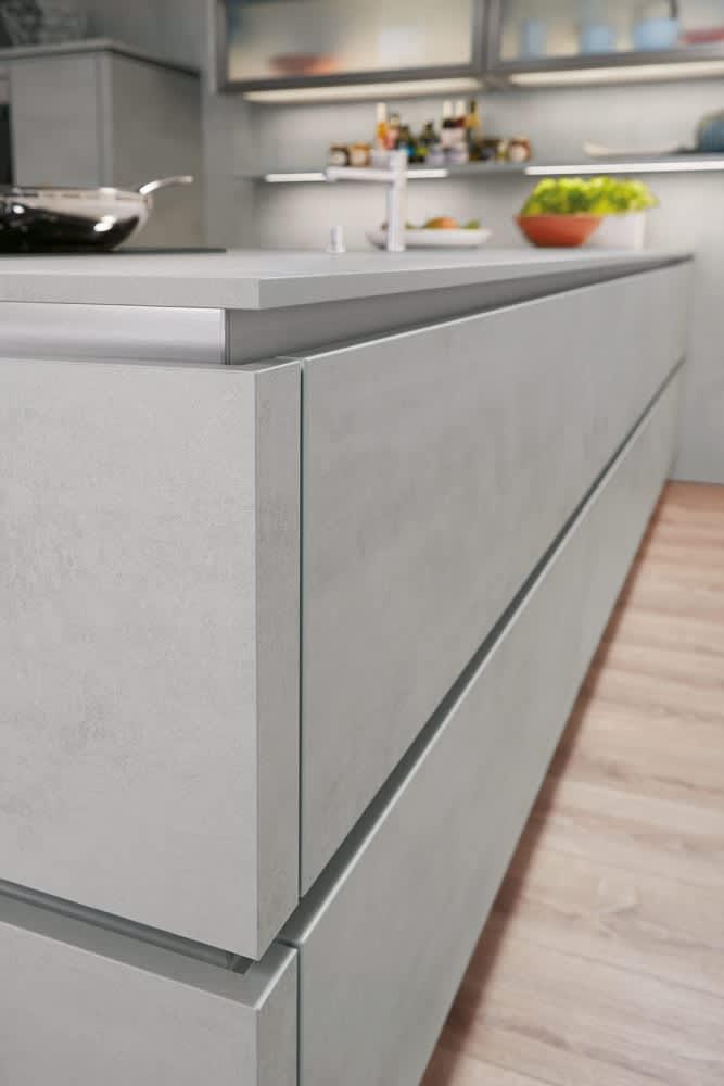Kücheninsel Küche Grifflos Grau Norina2371