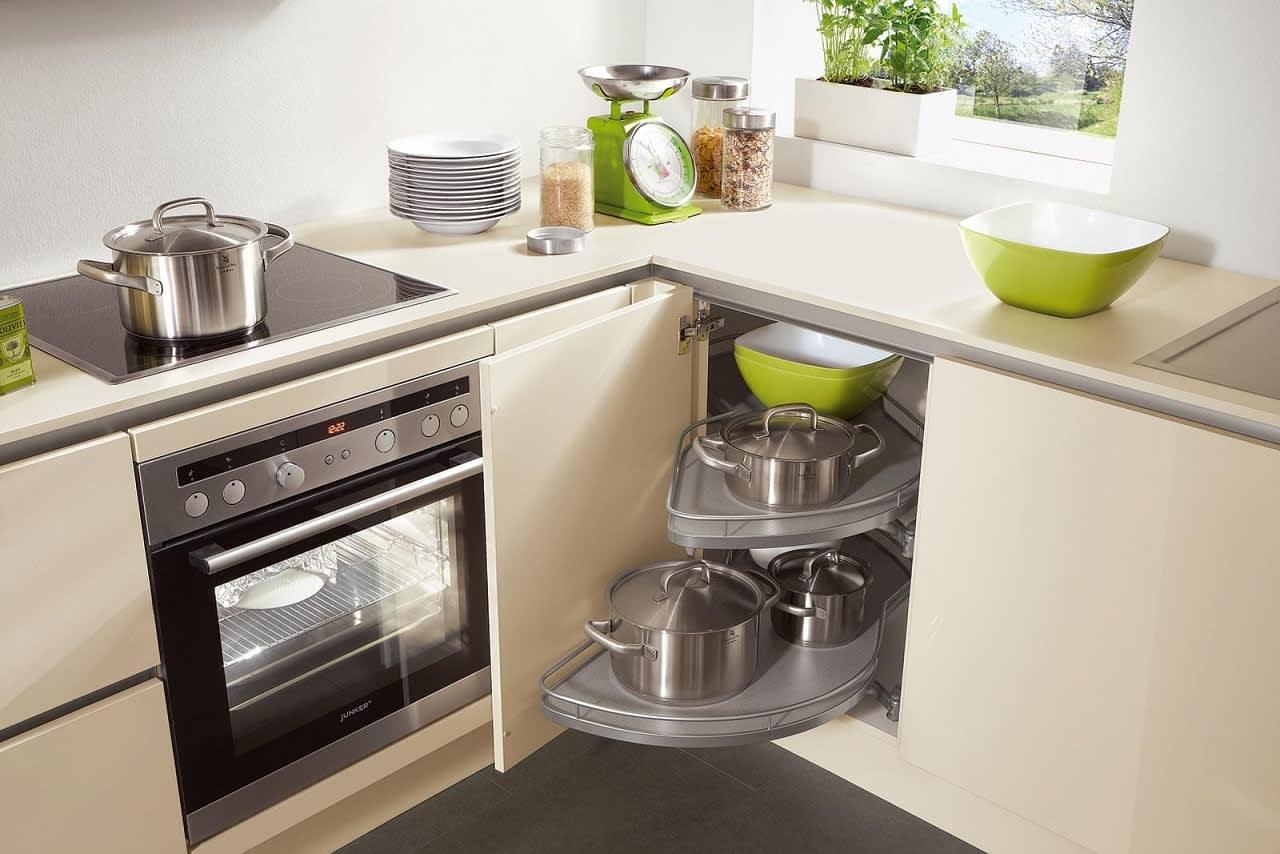 eckschrank einbauküche hochglanz creme norina 4312
