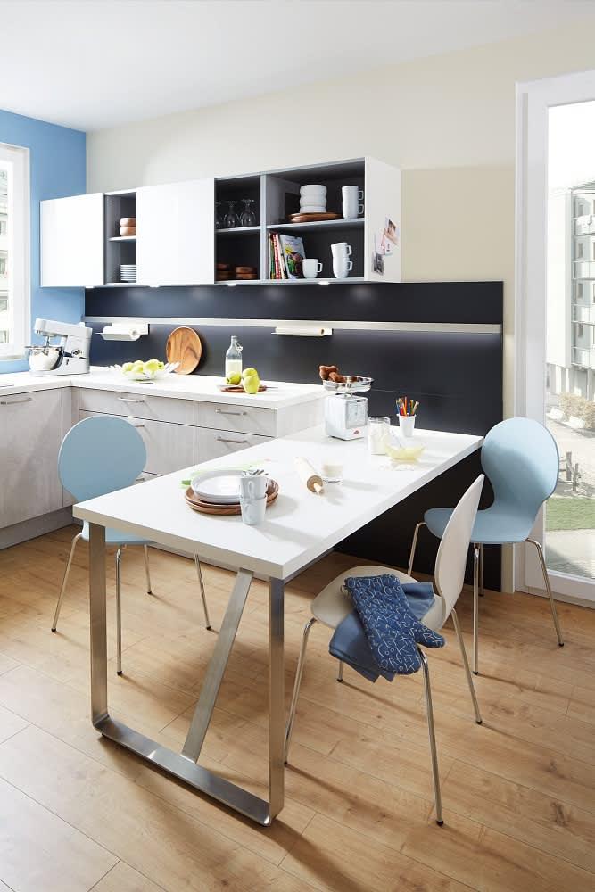 eßtisch classica1200 einbauküche beton grau