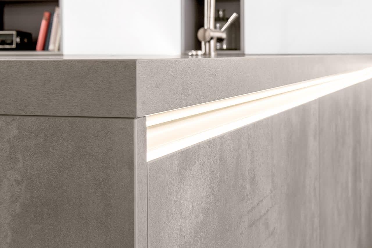 griff einbauküche grau classica1200