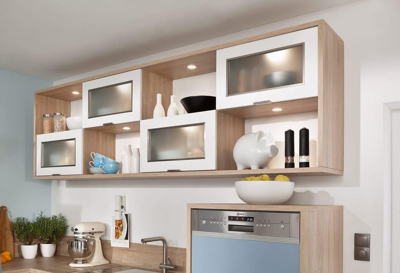 hängeschrank einbauküche blau weiß bavaria1135