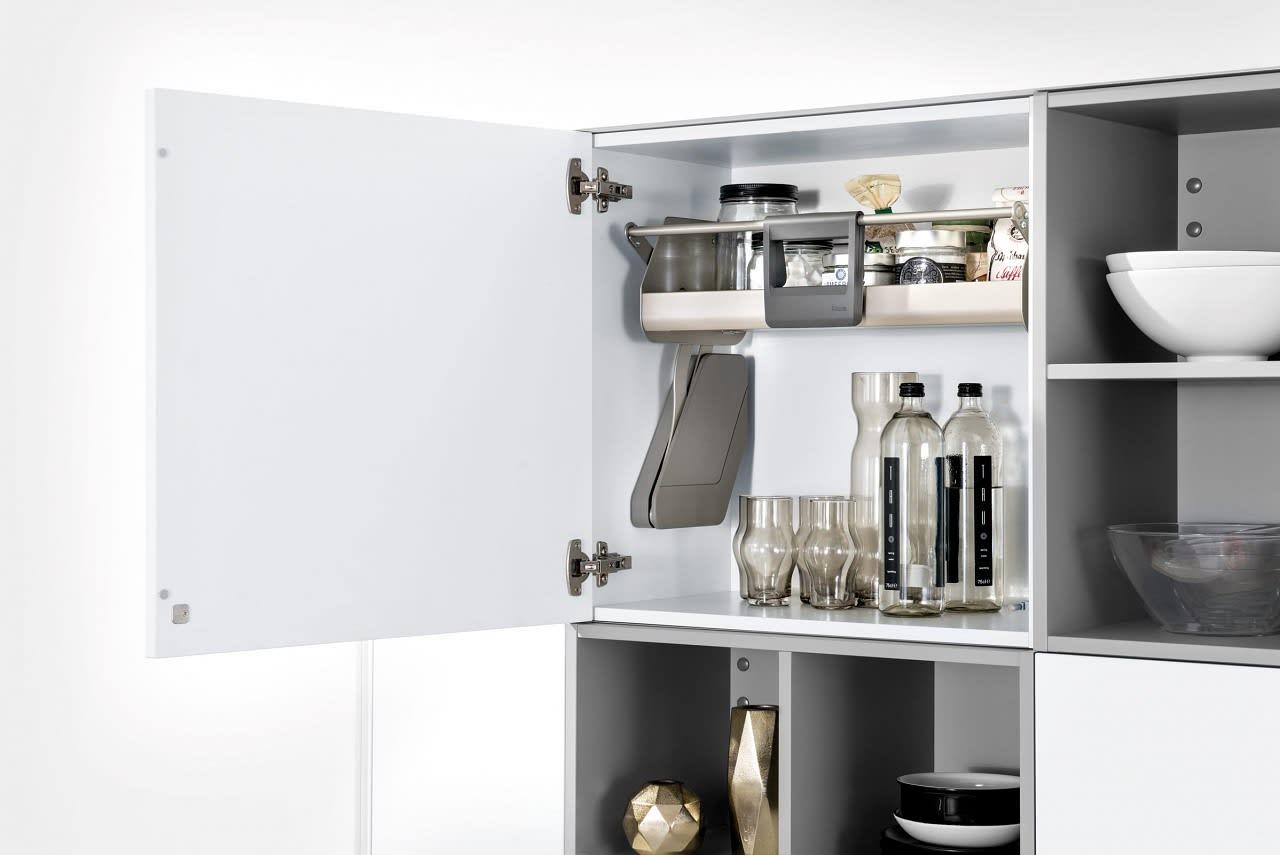 hängeschrankeinteilung einbauküche grau classica1200