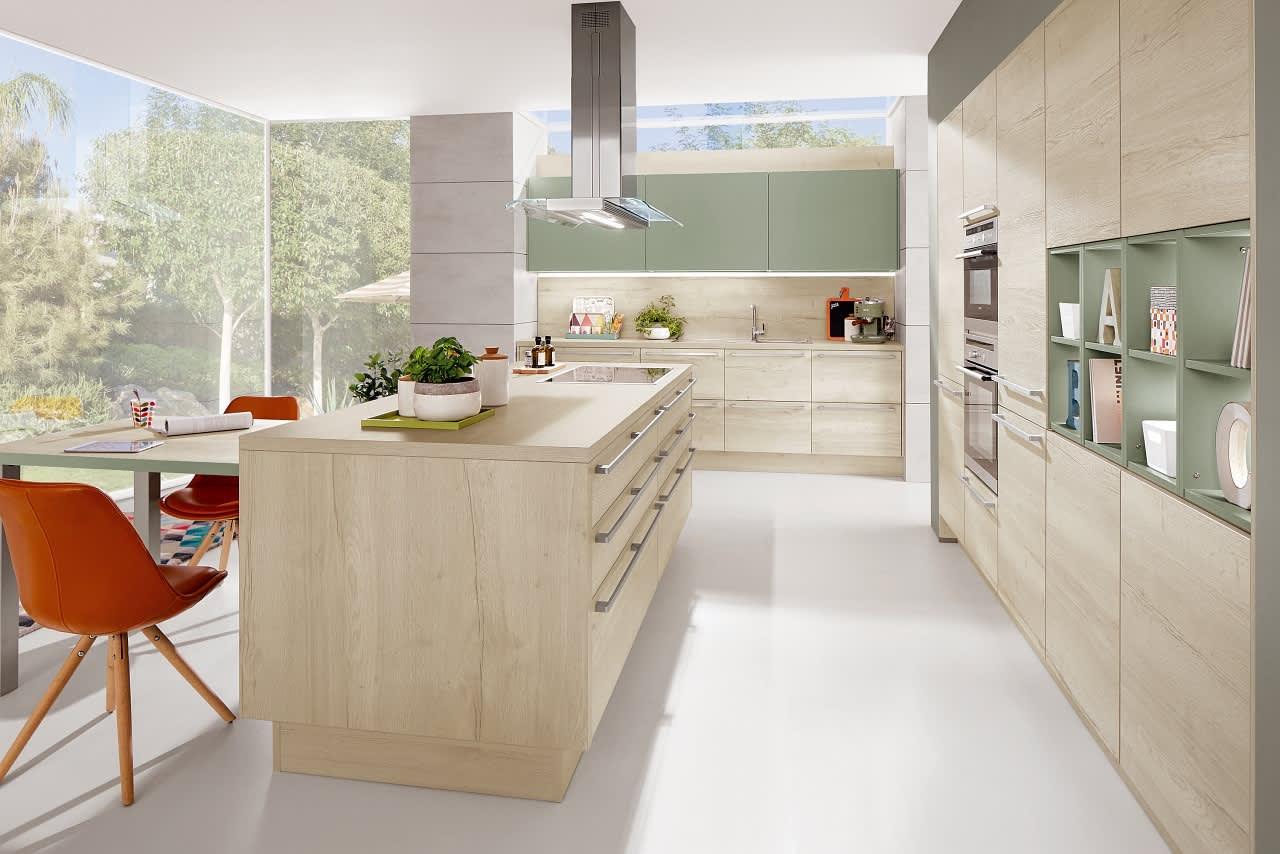 kücheninsel norina3382 einbauküche eiche