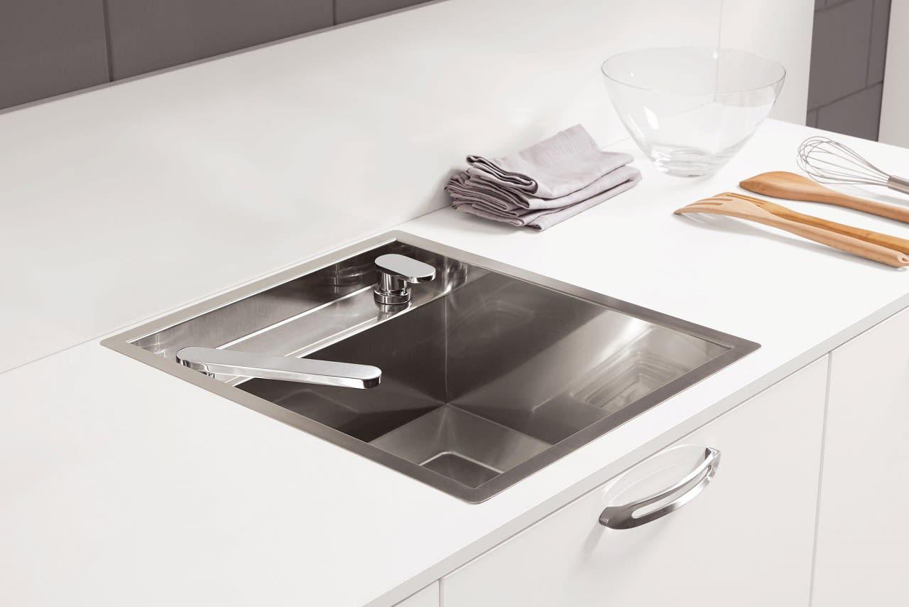 mischbatterie versenkt norina4312 einbauküche alpinweiß hochglanz lack
