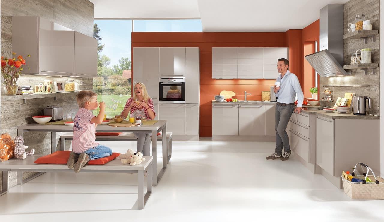 küche hellgrau hochglanz norina 4312