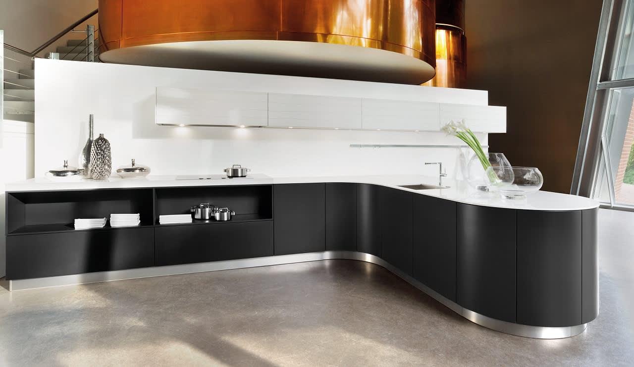 systema6000 einbauküche schwarz weiß