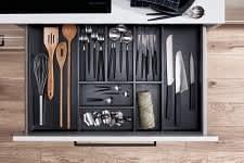 besteckeinsatz systema5040 einbauküche weiß hochglanz lack