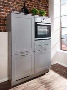 hochschränke classica2300 einbauküche grau