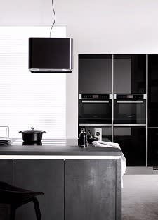 kücheninsel classica1200 3410 einbauküche beton graphit schwarz hochglanz lack