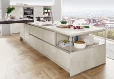 kücheninsel norina2371 einbauküche grifflos weißbeton