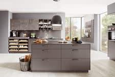 kücheninsel norina3317 einbauküche schiefergrau