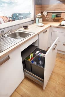 mülleimer classica0100 1240 einbauküche weiß auqamarin