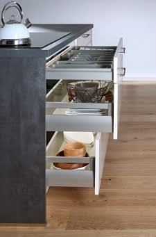unterschrank classica1230 1200 einbauküche creme grau hochglanz lack
