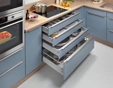 unterschrank einbauküche blau weiß bavaria1135