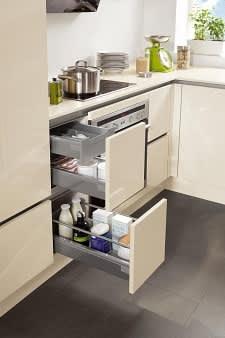 unterschrank einbauküche hochglanz creme norina 4312