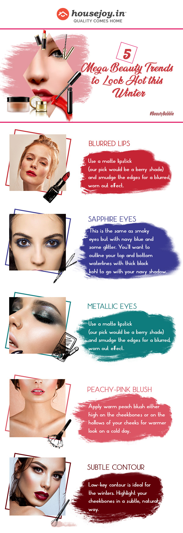 winter beauty trends infrographic