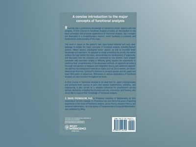 A First Course in Functional Analysis av S. David Promislow