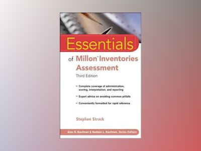 Essentials of Millon Inventories Assessment, 3rd Edition av Stephen Strack