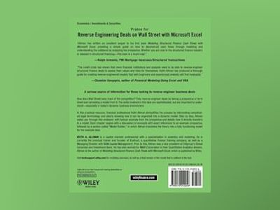 Reverse Engineering Deals on Wall Street with Microsoft Excel: A Step-by-St av Keith A. Allman