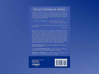 Applied Statistics: Analysis of Variance and Regression, 3rd Edition av Ruth M. Mickey