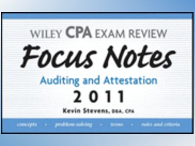 Wiley CPA Examination Review Focus Notes: Auditing and Attestation, 6th Edi av Kevin Stevens