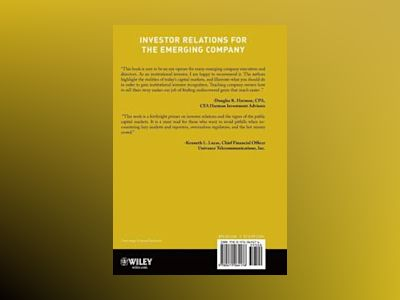 Investor Relations for the Emerging Company av Ralph A. Rieves