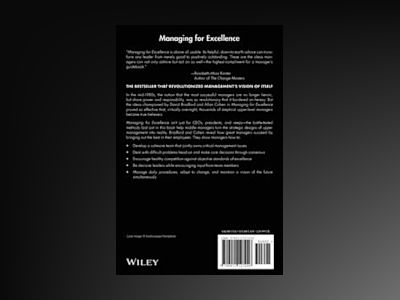 Managing for Excellence: The Guide to Developing High Performance in Contem av David L. Bradford