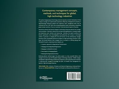 Management for Quality in High-Technology Enterprises av Yefim Fasser