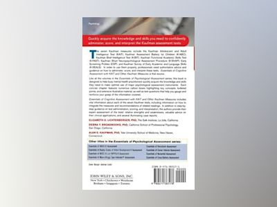 Essentials of Cognitive Assessment with KAIT and Other Kaufman Measures av Elizabeth O. Lichtenberger